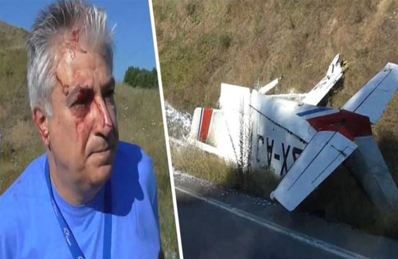 Σοκάρουν οι πρώτες εικόνες από την πτώση του αεροπλάνου: Γεμάτος αίματα ο πιλότος!