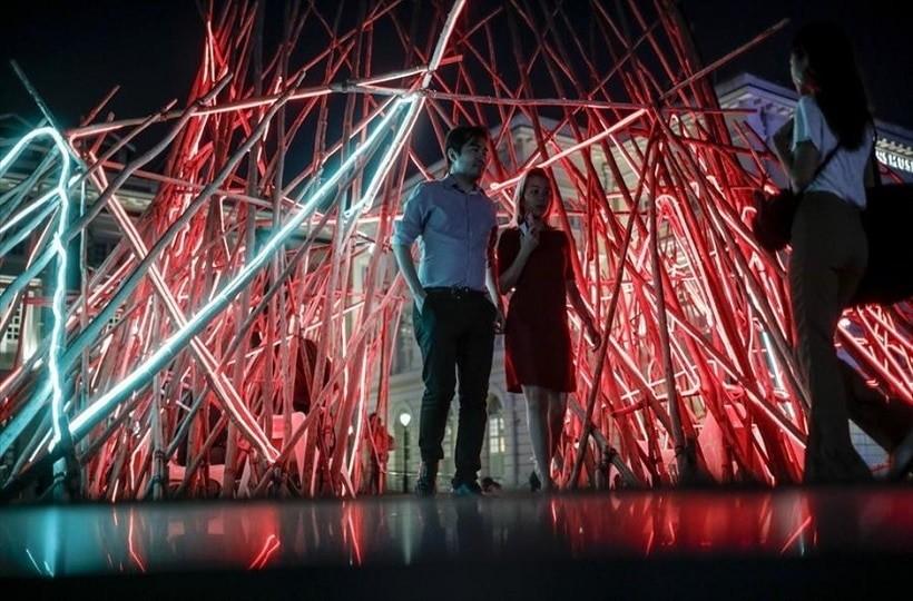 Η φωτογραφία της ημέρας: Στιγμιότυπο από το Φεστιβάλ Φωτός «Light to Night»  στη Σιγκαπούρη!