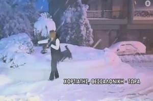 """Απίστευτες εικόνες: Το """"έστρωσε"""" μισό μέτρο στον Χορτιάτη Θεσσαλονίκης (video)"""