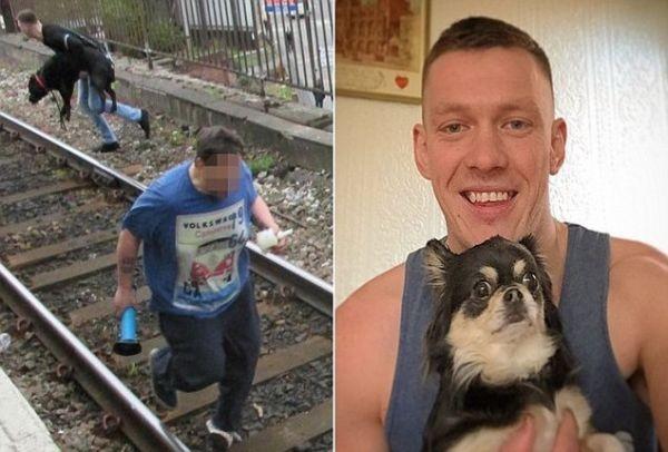 Ήρωας!!! Έπεσε στις ράγες του τρένου για να σώσει ένα σκυλάκι την ώρα που το τρένο πλησίαζε καταπάνω του!