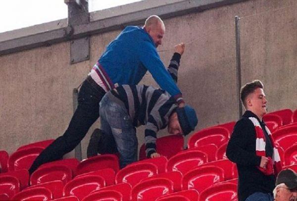 Ντροπή και αηδία: Οπαδοί χτύπησαν ανάπηρο και τον πέταξαν από το καροτσάκι! (PHOTO+VIDEO)