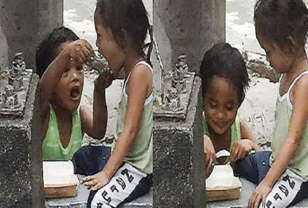 Η φωτογραφία που έχει ραγίσει το διαδίκτυο: Παιδάκι ζητάει ελεημοσύνη για να ταΐσει την μικρή του αδελφή!
