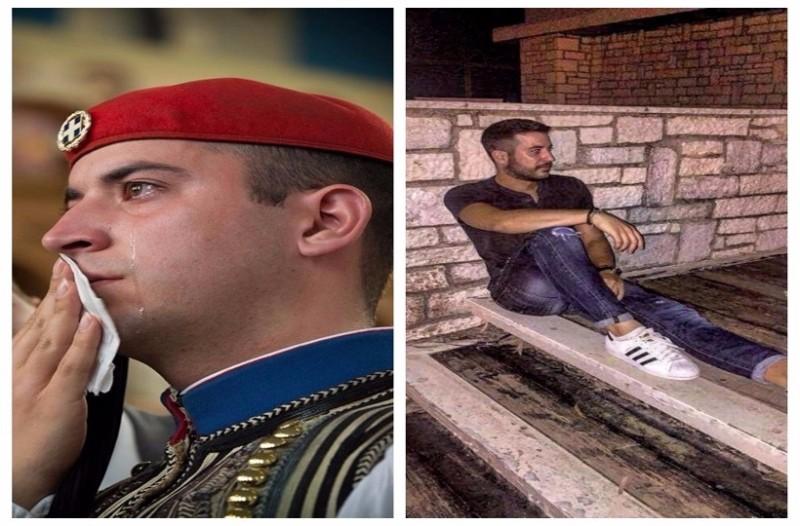 Ποιος είναι ο Εύζωνας που συγκλόνισε με τα δάκρυά του όλη την Ελλάδα (photos)