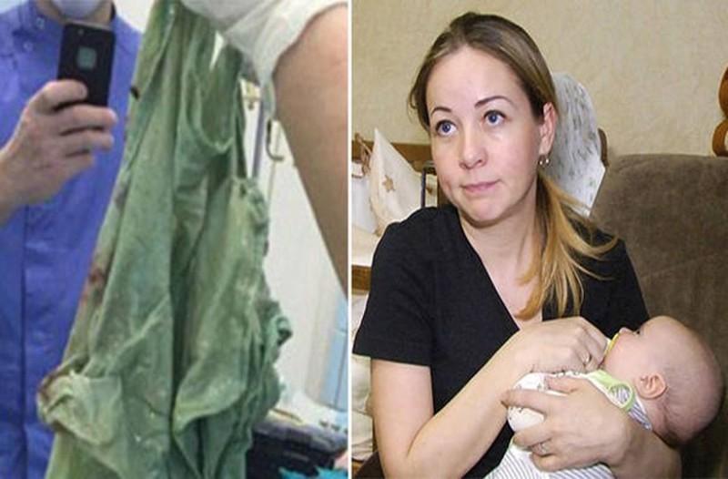 Σοκ: Γιατροί ξεγέννησαν γυναίκα με καισαρική και ξέχασαν το... σεντόνι μέσα στην κοιλιά της! (video+photos)