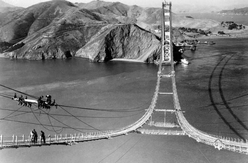 Μοναδικές εικόνες από την κατασκευή της γέφυρας του Σαν Φρανσίσκο