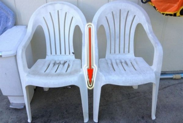 Έκοψε τα πόδια από τις πλαστικές καρέκλες. Το αποτέλεσμα θα το ζηλέψεις και σίγουρα θα το κάνεις! (Photos)
