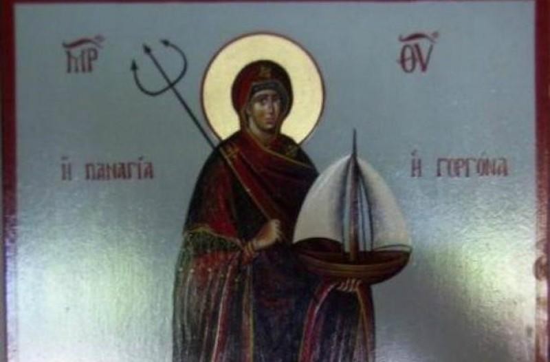 Η Παναγιά Γοργόνα: Μια σπάνια απεικόνιση της Θεομήτορος, την οποία λίγοι γνωρίζουν!