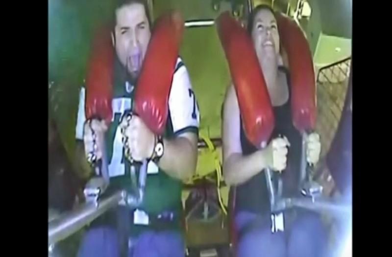 Ξεκαρδιστικό video με άντρα να ουρλιάζει σε λούνα παρκ σαν κοριτσάκι!