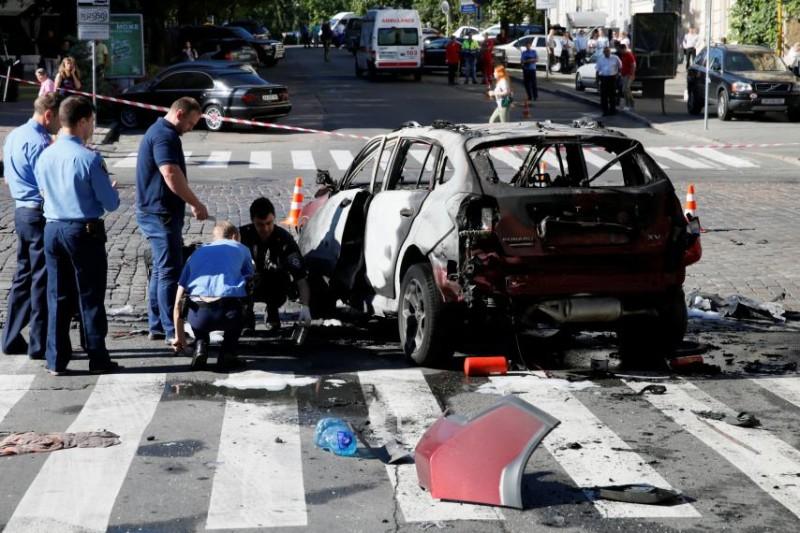 Συνάγερμος στο Κίεβο: Εξερράγη αυτοκίνητο - Πληροφορίες για έναν νεκρό! (video-photos)