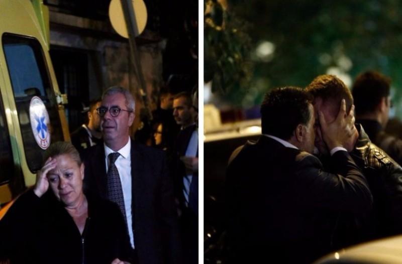 Εικόνες - σοκ: Συντετριμμένοι η γυναίκα και τα παιδιά του Μιχάλη Ζαφειρόπουλου μετά την δολοφονία! (photos)