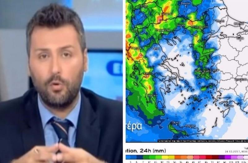 Σοκάρει ο Γιάννης Καλλιάνος για τα νέα επικίνδυνα καιρικά φαινόμενα: «Μην ξεγελιέστε, οι καταιγίδες θα…»