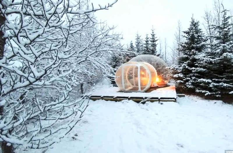 Μαγεία: Διαμονή σε γυάλινο ιγκλού μέσα στα χιόνια! (photos)