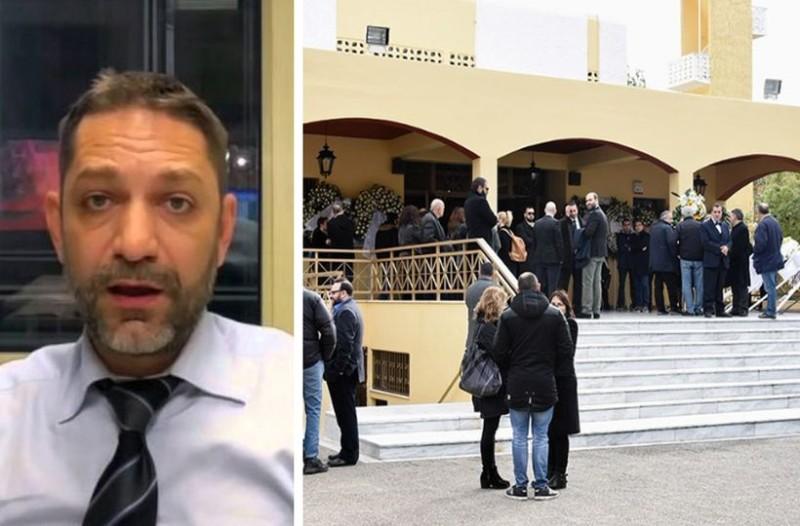 Ραγίζουν καρδιές στην κηδεία του Βασίλη Μπεσκένη: Ποιοι επώνυμοι δίνουν το παρών; (photos)