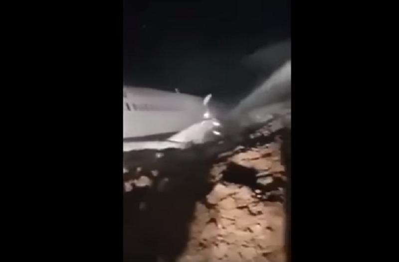 Σοκαριστικό βίντεο: Αεροπλάνο βρέθηκε στο... χείλος του γκρεμού!