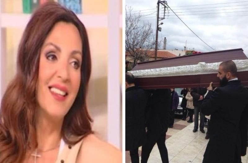 Σπαραγμός και οδύνη στην κηδεία της δημοσιογράφου, Καρολίνας Κάλφα! Τραγική φιγούρα ο γιος της! (photos)