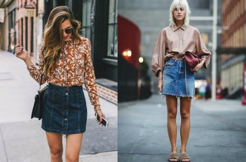 Ένα κομμάτι διαχρονικό  Πώς να φορέσεις την denim φούστα και να απογειώσεις  την εμφάνισή σου 1071a1ef86b