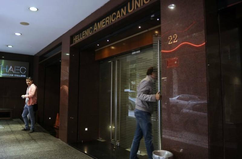 Εισβολή αντεξουσιαστών στην Ελληνοαμερικανική Ένωση στο Κολωνάκι