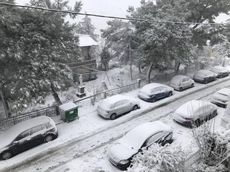 """Χιονίζει στον Λευκό Πύργο! Στα """"λευκά"""" η Θεσσαλονίκη (video)"""