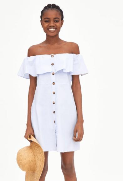 841c3dab430e Zara  Το λευκό ανοιξιάτικο φόρεμα που δεν θα βγάζετε από πάνω σας ...