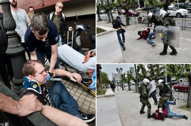 Απίστευτο ξύλο και χημικά από ΜΑΤ σε μαθητές στο κέντρο της Αθήνας! (photos)