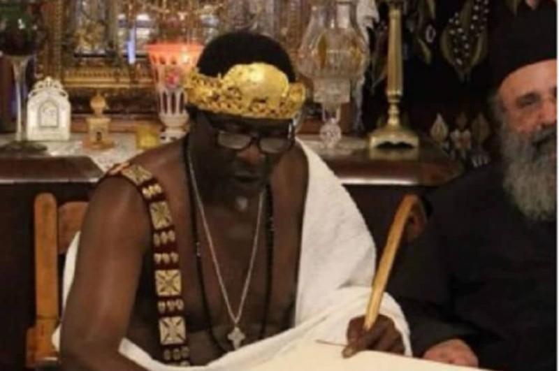 Αφρικανός βασιλιάς βαφτίστηκε χριστιανός στο Άγιο Όρος (photos)