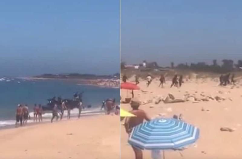 Συγκλονιστικό βίντεο: Πρόσφυγες πηδούν από βάρκα σε γεμάτη παραλία!
