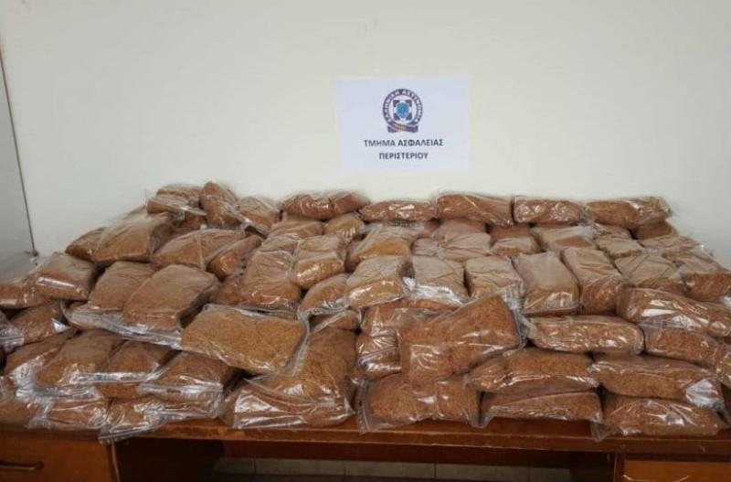 Μπλόκο σε παράνομο φορτίο 100 κιλών καπνού
