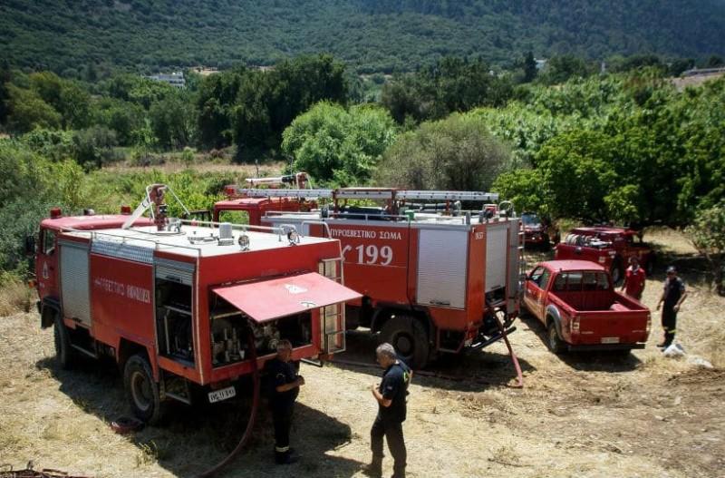 Κρήτη: Ξέσπασε πυρκαγιά στην Ιεράπετρα