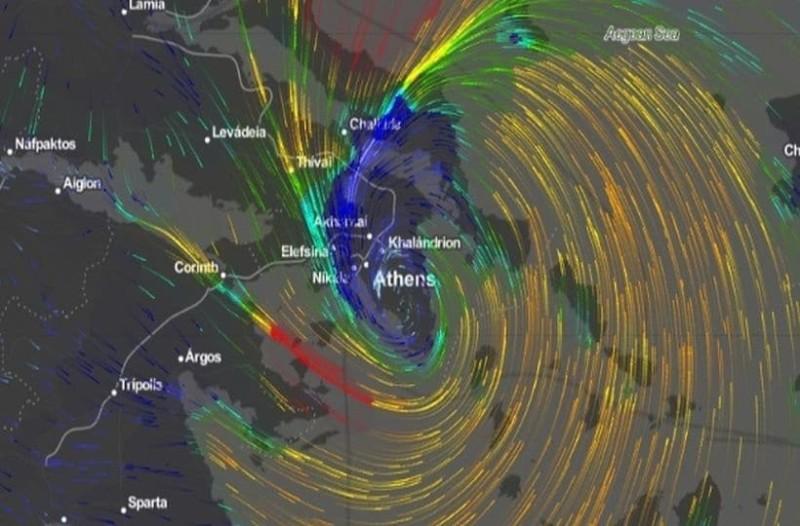 Η πορεία του κυκλώνα