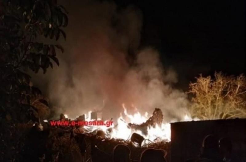 Ισχυρή έκρηξη στην Κρήτη! - Διακοπές ρεύματος στη Μεσαρά! (video)