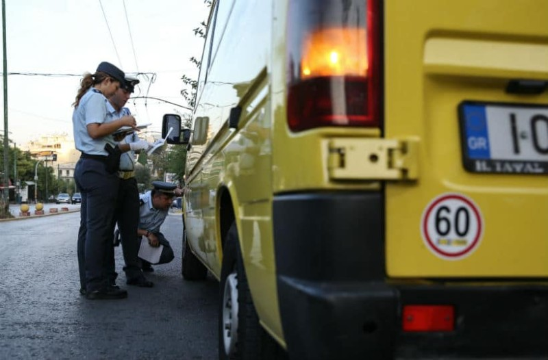 Τρομερές παραβάσεις από σχολικά λεωφορεία - Έφτασαν τις 413 σε ένα μήνα