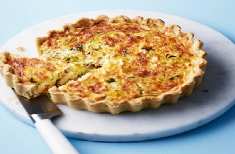 Πίτα ανοιχτή με κοτόπουλο μανιτάρια και πράσα!