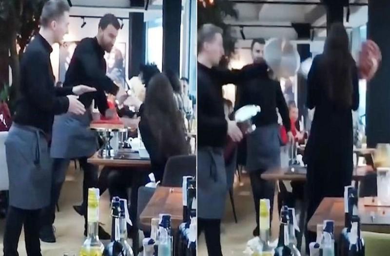 Αδιανόητο: Σερβιτόροι ρίχνουν γλυκά στη μούρη αγενούς πελάτισσας! (video)
