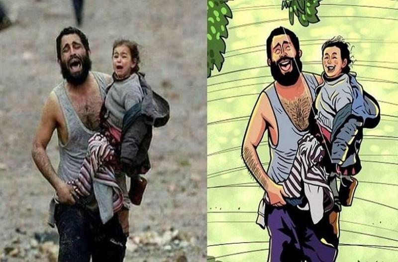 Έτσι θα ήταν ο κόσμος μας χωρίς βια και πολέμους! - Η πιο ρεαλιστική του απεικόνιση μέσα από σκίτσα!