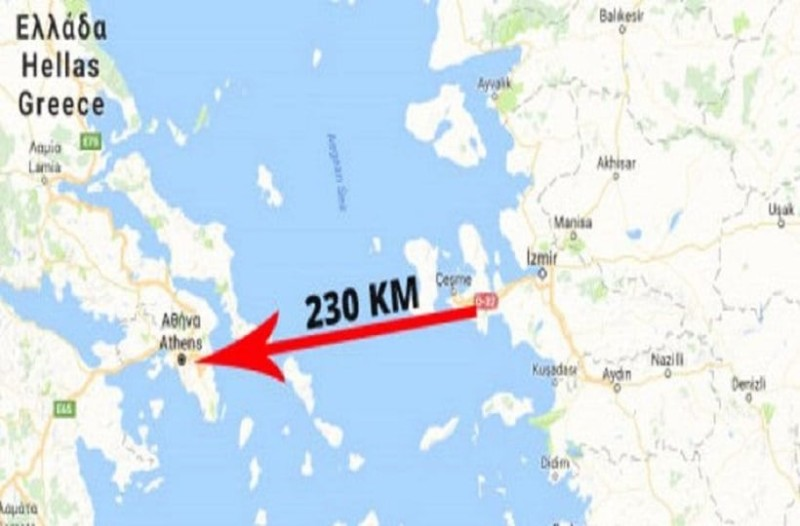 Απίστευτη τουρκική πρόκληση: Χάρτης με την Αθήνα εντός του βεληνεκούς του πυραύλου Μπόρα!
