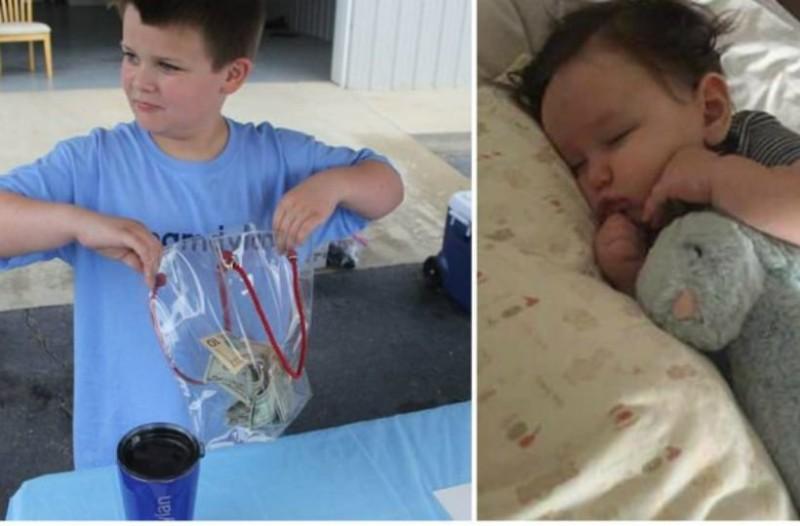 9χρονος μάζεψε πάνω από 5.000€ πουλώντας σπιτική λεμονάδα για να καλύψει τα ιατρικά έξοδα για τον βαριά άρρωστο αδερφό του