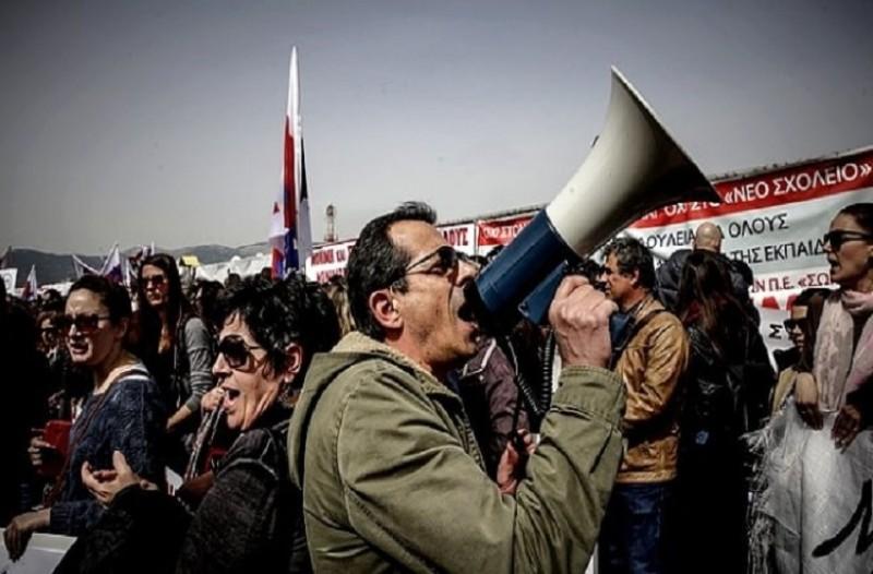 Ένταση και κατάληψη Πρυτανείας στο συλλαλητήριο των εκπαιδευτικών!