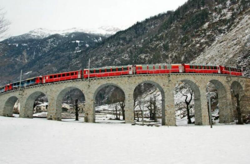 2 μαγικές διαδρομές με τρένο στις Ελβετικές Άλπεις!