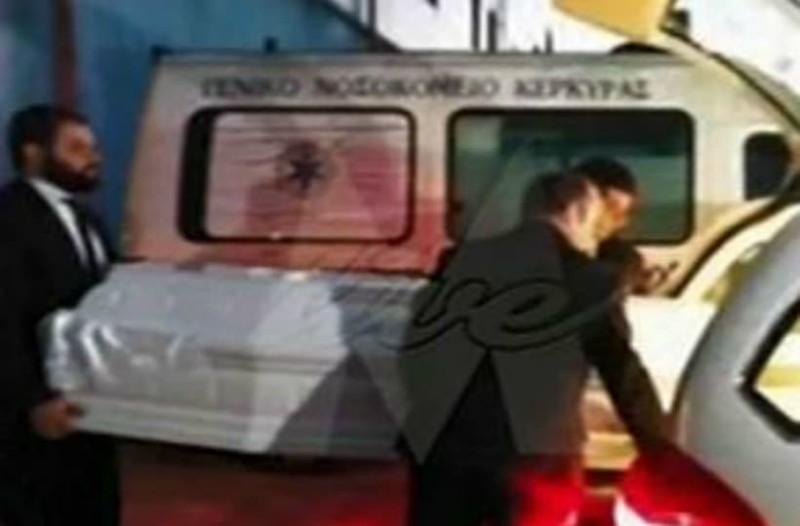 Κέρκυρα: Η στιγμή της μεταφοράς της σορού της αδικοχαμένης Αντζελίνας που δολοφονήθηκε από τον πατέρα της!