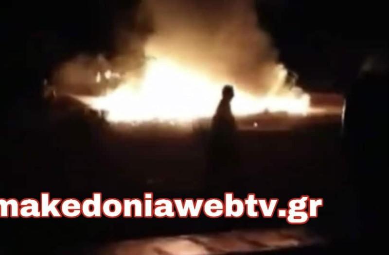 Φωτογραφίες από τη στιγμή της έκρηξης σε στρατιωτική άσκηση στο Κιλκίς!