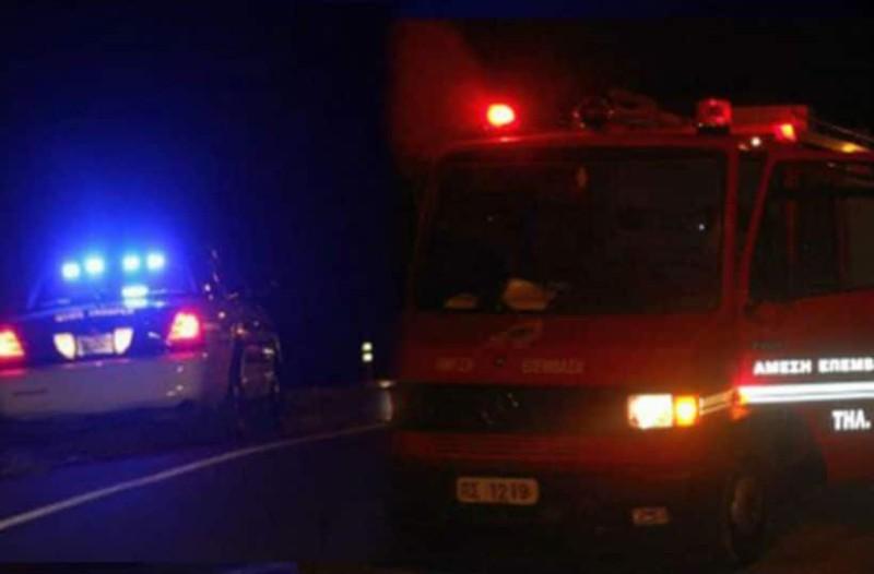 Κρήτη: Ταλαιπωρία για έναν άνδρα που ανατράπηκε το αυτοκίνητό του λόγω κακοκαιρίας!