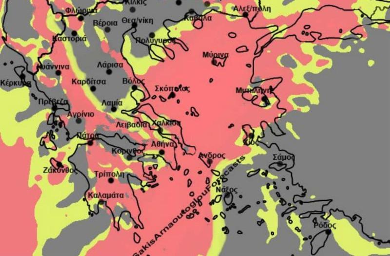 Καιρός: Μεγάλη προσοχή στους θυελλώδεις ανέμους - Δείτε που θα ρίξει