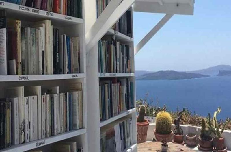 Το ωραιότερο βιβλιοπωλείο του κόσμου βρίσκεται στη Σαντορίνη!