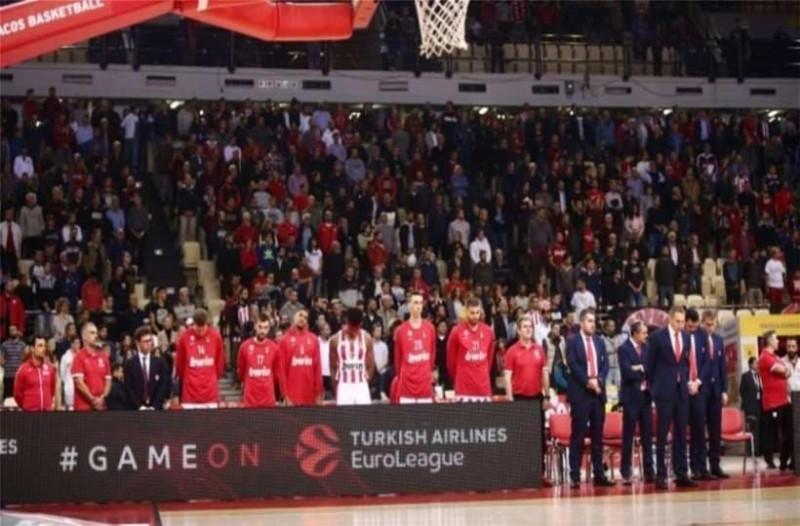 Ολυμπιακός: Όρθιο όλο το ΣΕΦ για να τιμήσει τον