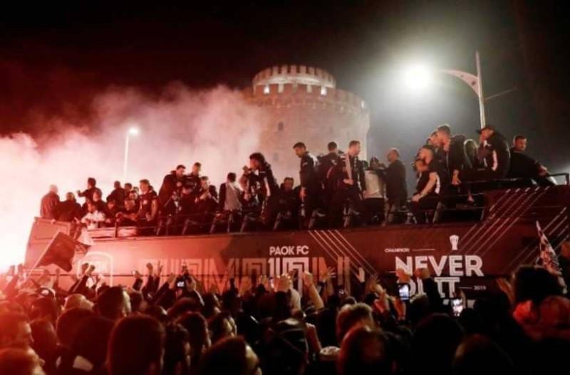 Πήρε ''φωτιά'' η Θεσσαλονίκη με το πρωτάθλημα του ΠΑΟΚ!