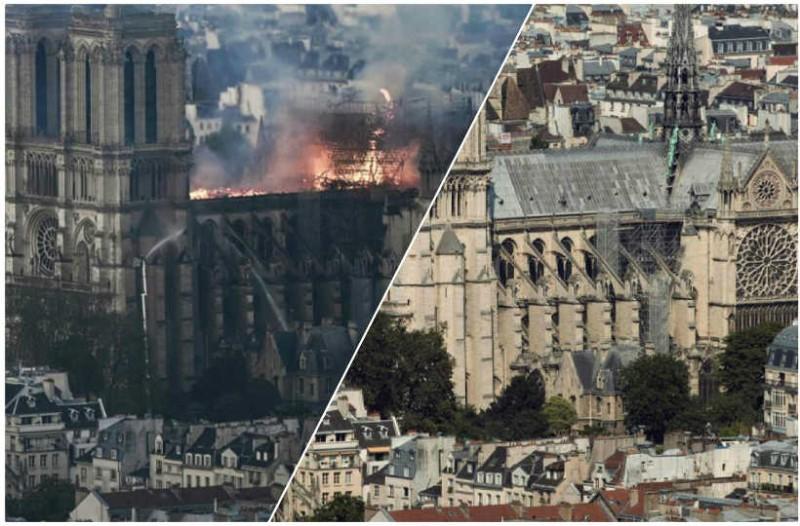 Σοκαριστικές φωτογραφίες: Η Παναγιά των Παρισίων πριν και μετά τη φωτιά!