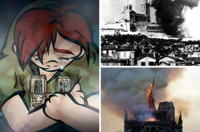 Στις φλόγες 850 χρόνια ιστορίας: Οδύνη για την καταστροφή στην Παναγιά των Παρισίων! (photos)