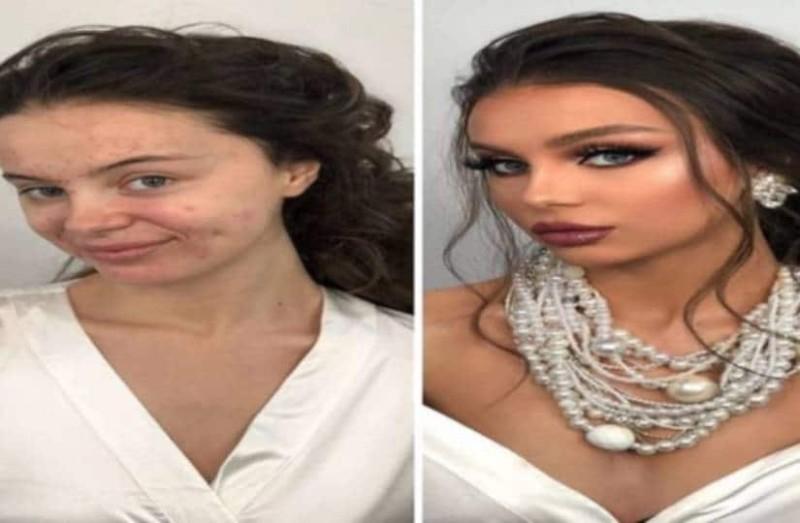 11 φωτογραφίες γυναικών πριν και μετά το νυφικό μακιγιάζ. Η 4η κοπέλα απλά μεταμορφώθηκε!