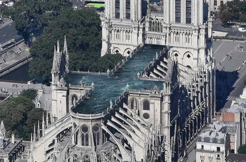 Απίστευτο! Πισίνα στην οροφή της Παναγίας των Παρισίων;