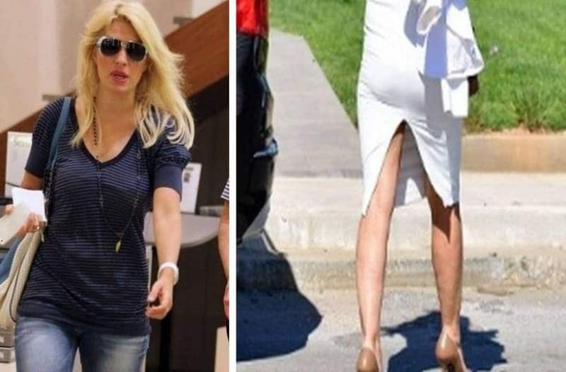 Θρίλερ για την Ελένη Μενεγάκη: Η λευκή κολλητή φούστα έδωσε στεγνά τις ατέλειες στο σώμα της!
